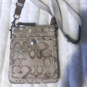 Coach Tan Crossbody Messenger Purse/Bag